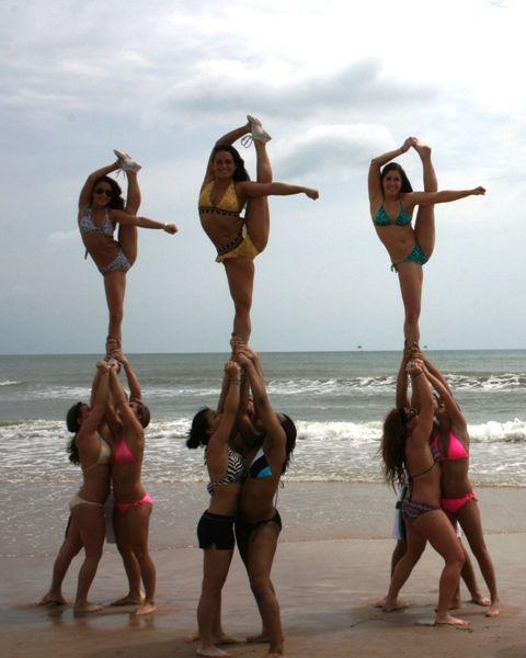 Oh yea we will have this next year... :): Cheer Dance, Cheerleading Things, Bikinis Girls, Cheer Stunts, Cheer 3, Cheerleading Dance Gymnastics, Cheerleading 3, Cheer Life, Arrows Stunts