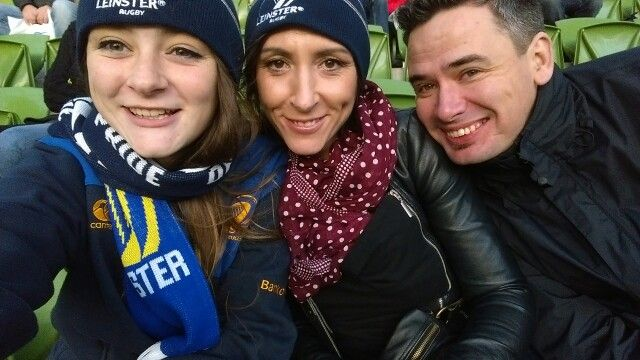 Leannes first Leinster Rugby Game, Aviva 2014