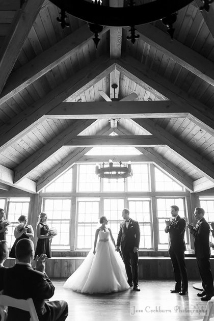 It's official! A couple ties the knot in a beautiful lakeside venue!