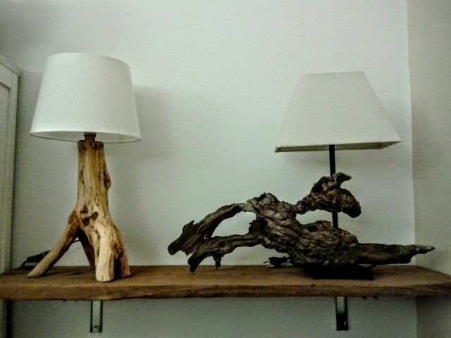 Driftwood lamps