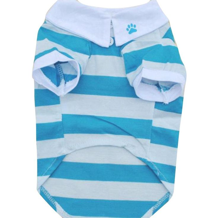 Leoy88 Hot Dog Stripe Cotton T-Shirt Clothes Lapel Puppy Pet Dog Clothes * Wow! I love this. Check it out now! : Dog Apparel and Accessories