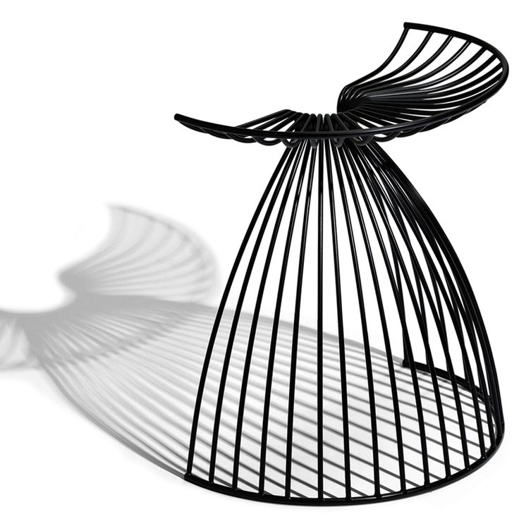 A Sculptural Stool With A Poetic Shape Evoking An Angel Awesome Design