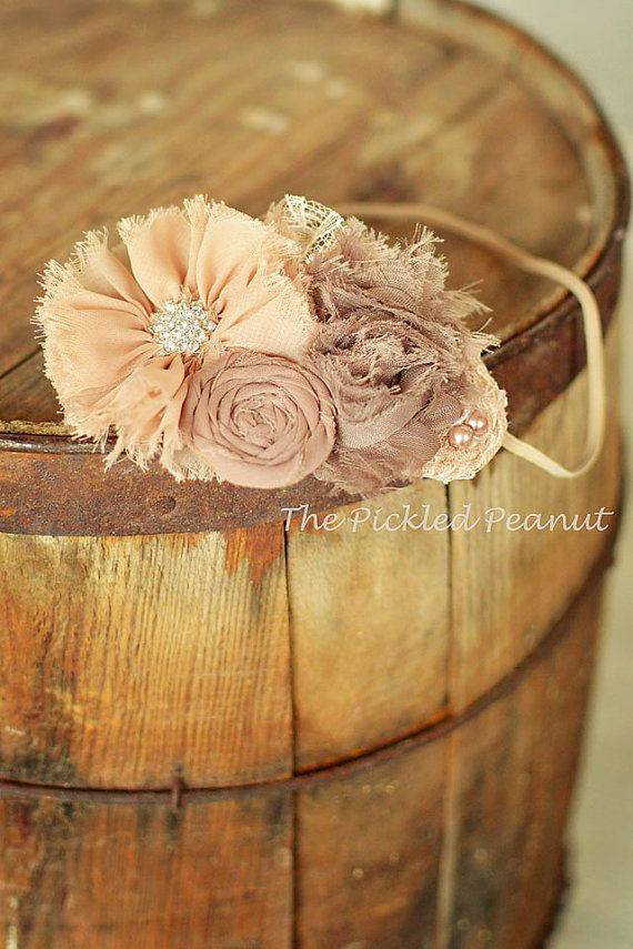 Shabby Vintage Blush Beige and Taupe Boutique by ThePickledPeanut on etsy