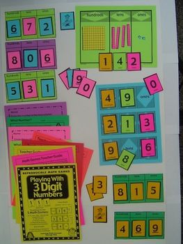 Place Value with 3 Digit Numbers - Games and Lesson Plans  $
