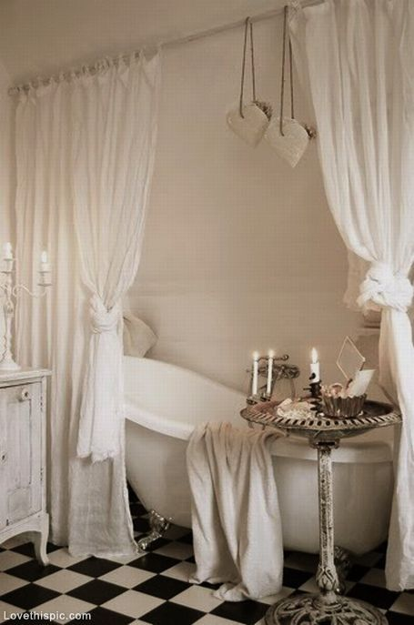 Shabby Chic Romantic Bathroom   I need this in my life...