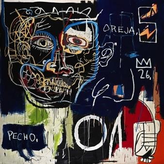 Untitled (Pech/Oreja) by Jean-Michel Basquiat.