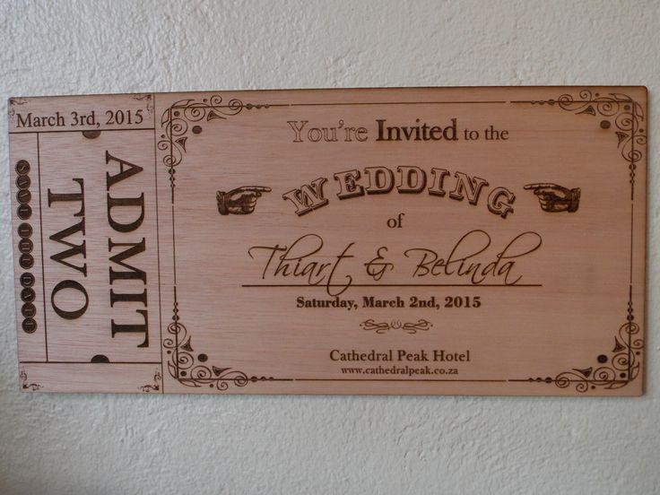 Wooden Wedding Invite