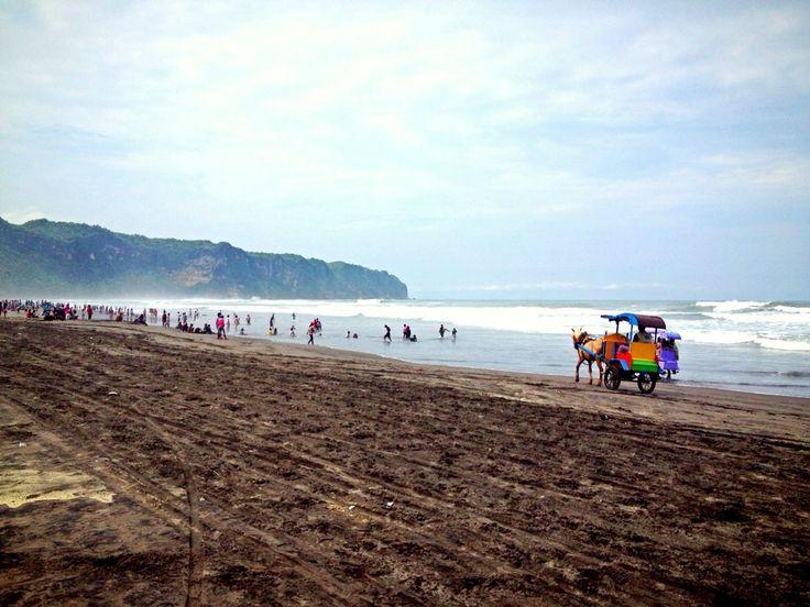 Pantai Parangtritis di Bantul, DI Yogyakarta