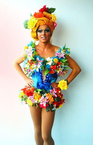 Priscilla Queen of the Desert costume. Love the colors!