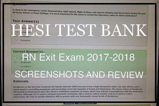 hesi test bank medical surgical nursing