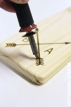 How to wood burn and etch a wood cutting board