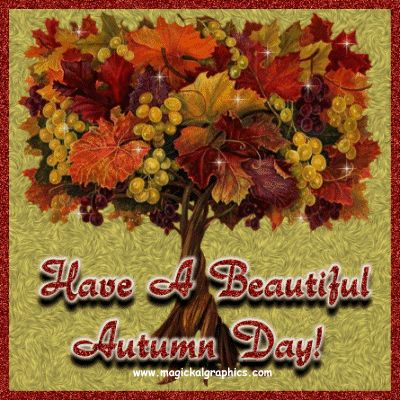 Have A Beautiful Autumn Day Autumn Leaves Fall Pumpkin Autumn Quote Graphic  Fall Greeting Fall Quote
