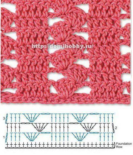 crochet stitch ❥Teresa Restegui http://www.pinterest.com/teretegui/❥ I like this one!