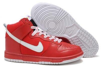 Nike Dunk High Superme Sneakers Red White