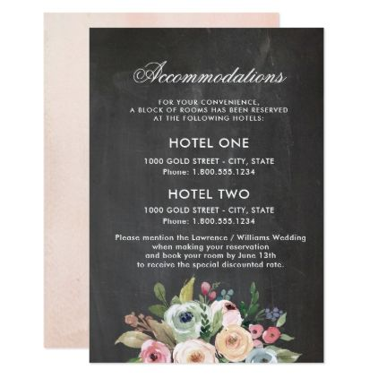 Sweet Watercolor Bouquet | Accommodations Card - floral style flower flowers stylish diy personalize