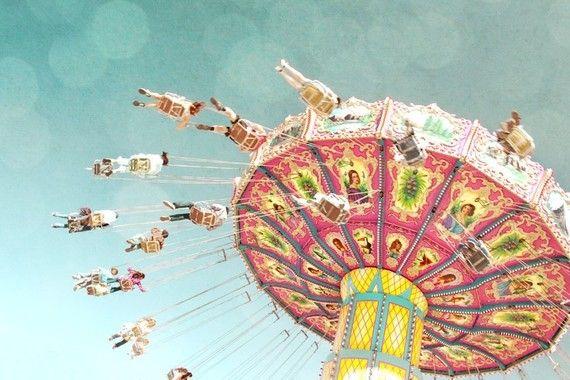 Vintage carnival ride print