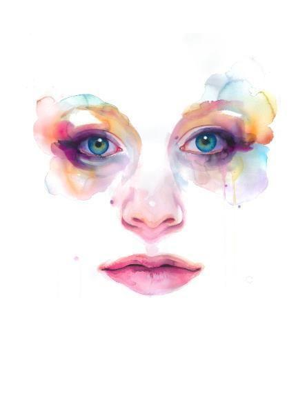 abstract facial paintings
