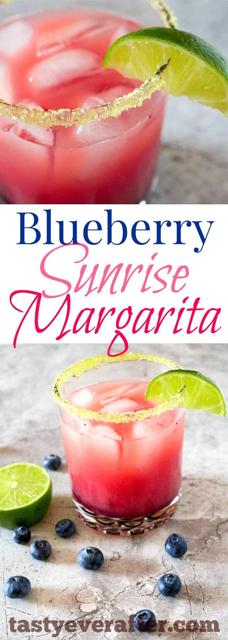 My FAVORITE margarita recipe made with FRESH blueberries!  So easy & refreshing too. #tastyeverafter
