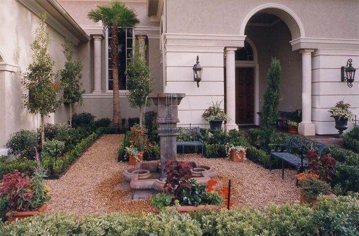 Front porch landscape ideas landscaping stone wall ideas for Florida porch ideas