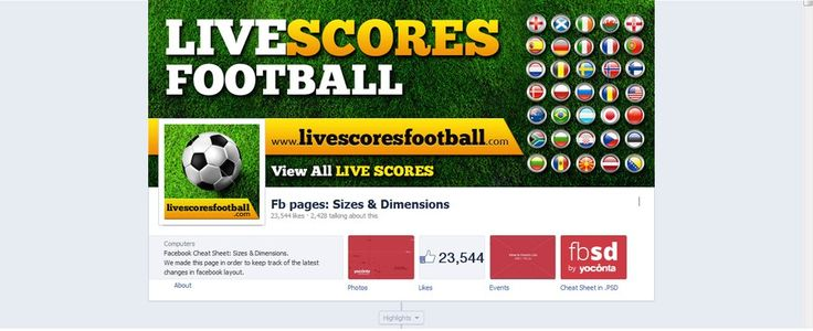 Design a facebook cover and profile picture for Live Scores Football by CreativeDezigner
