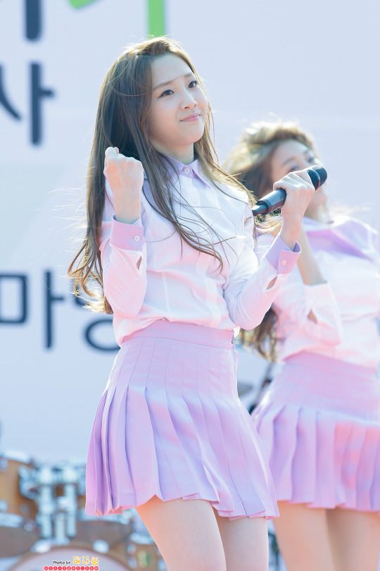 LOVELYZ - Yoo JiAe #유지애 #지애 at Jang Byeokjin Bounce Bounce 150410