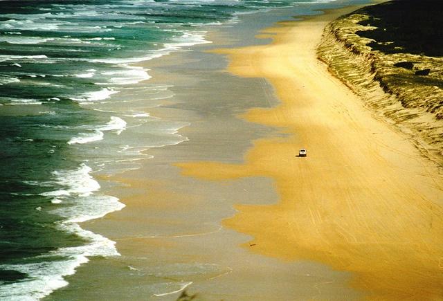 gorgeous beach in queensland, australia
