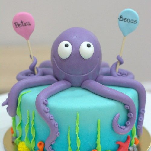 how to make an octopus cake