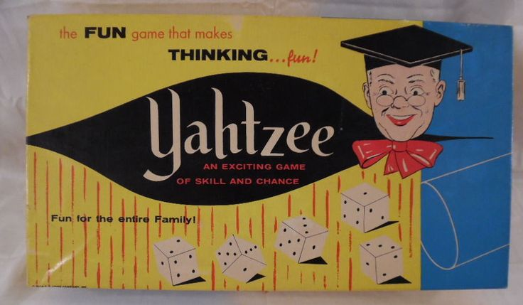 Yahtzee Game ~ 1961 Vintage ~ Complete Plus 2 Extra Boxes of Score Pads #ESLowe
