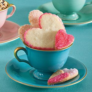Sweetheart Sugar Cookies: Teas Time, Sugar Cookies, Teas Cups, Heart Cookies, Valentines Day, Cookies Recipes, Afternoon Tea, Vintage Tea, Icecream