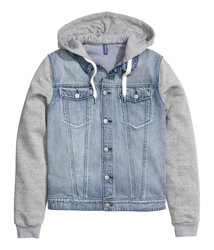 1000  ideas about Hooded Denim Jacket Mens on Pinterest | Crop top