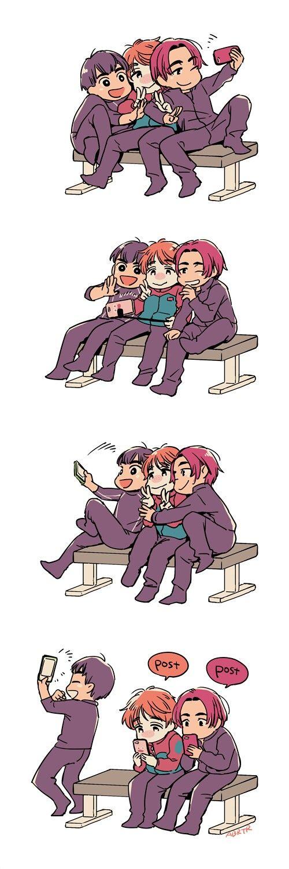 Yuri on Ice / Phichit, Guang Hong, and Leo