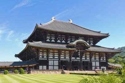 Todai-ji temple in Nara, Japan, the largest wooden building in the world