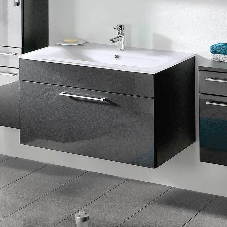 Waschbeckenschrank In Anthrazit Hochglanz 90 Cm Jetzt Bestellen Unter:  Https://moebel.ladendirekt.de/bad/badmoebel/waschbeckenunterschraenke/?uidu003d5ee1655b   ...