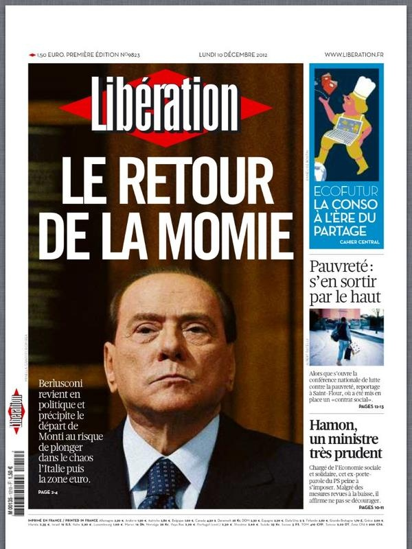 Libération 10 decembre 2012