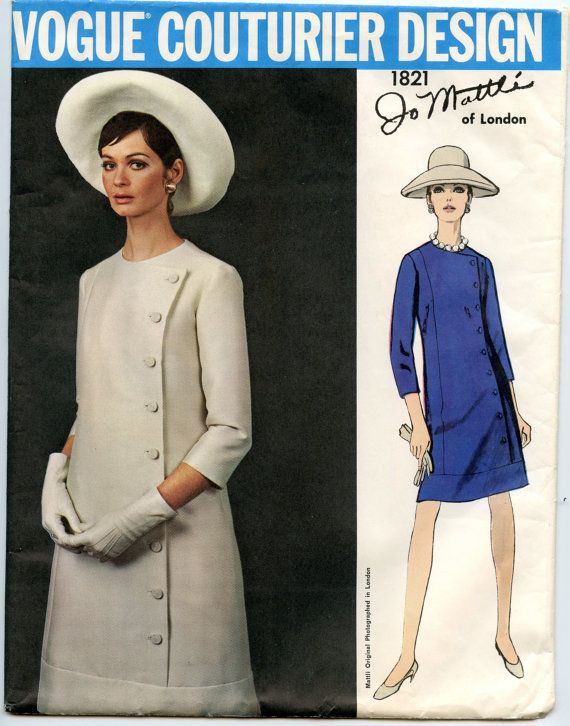 1960s Jo Mattli Vogue Couturier Design 1821 от GreyDogVintage