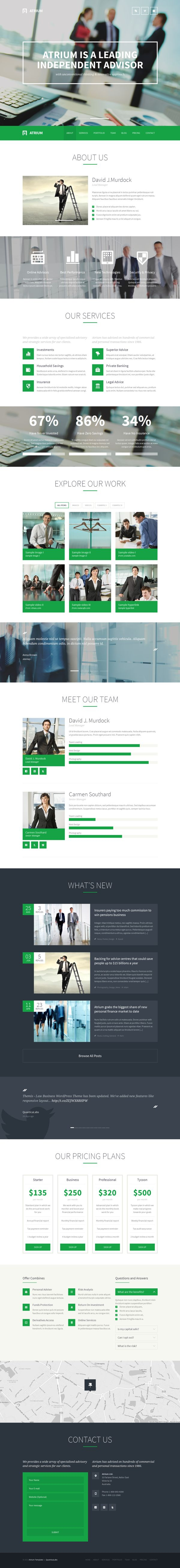 Atrium – Responsive Corporate One Page Template by QuanticaLabs