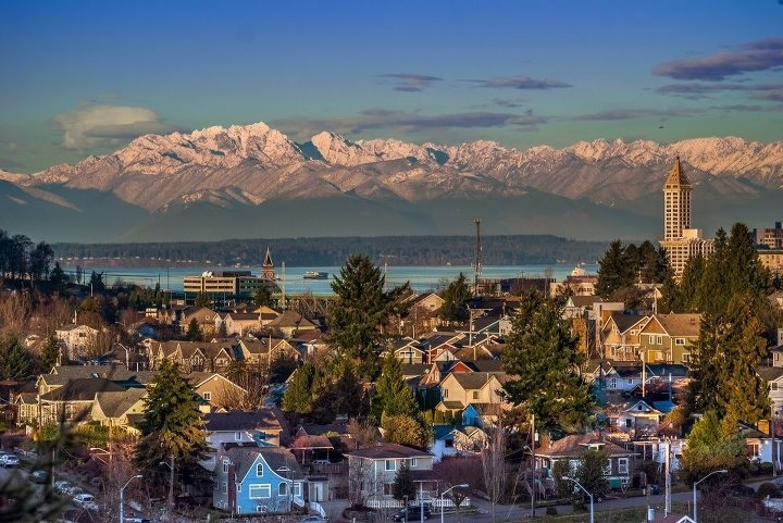 Beautiful City.   #Photography #Seattle: Big Cities, Olympics Mountain, Dreams Job, Favorite Places, The Smith, Washington States, Mountain Home, Pacific Northwest, Seattle Washington
