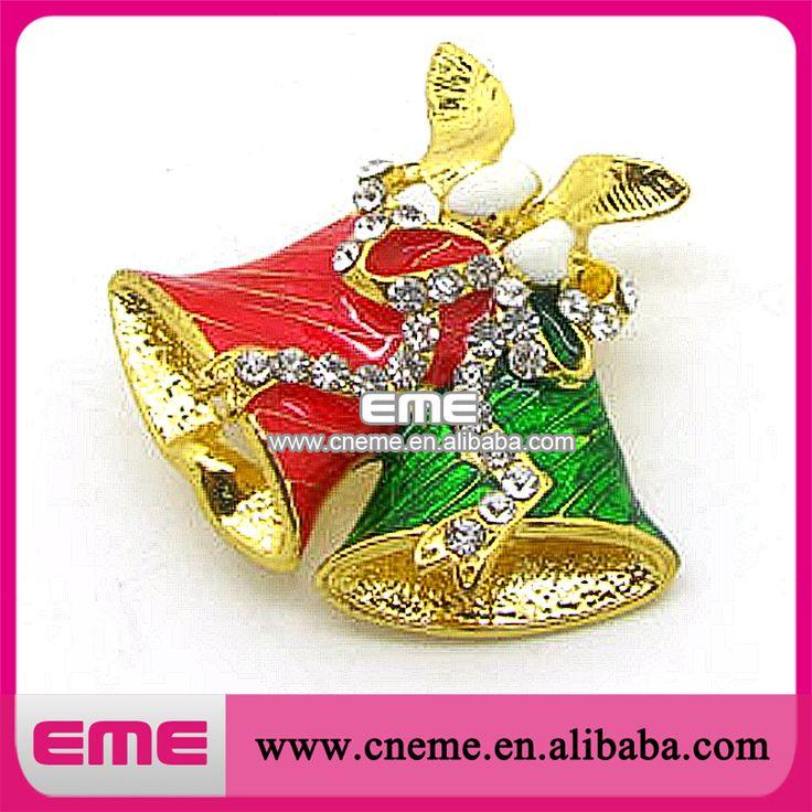 Сплав эмаль красный и зеленый перец дизайн для праздника рождества горный хрусталь