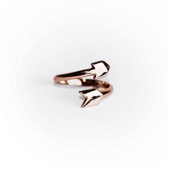 FRECCIA anello  nuovo colore  Rose Gold di MijuAndYou su Etsy