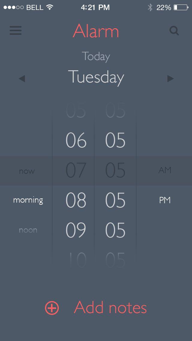 Alarm clock scheduler UI / Alarm App / Barry Mccalvey