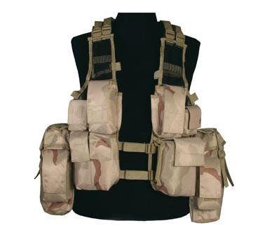 Mil-Tec Einsatzweste Tactical, 12-Taschen, desert / mehr Infos auf: www.Guntia-Militaria-Shop.de