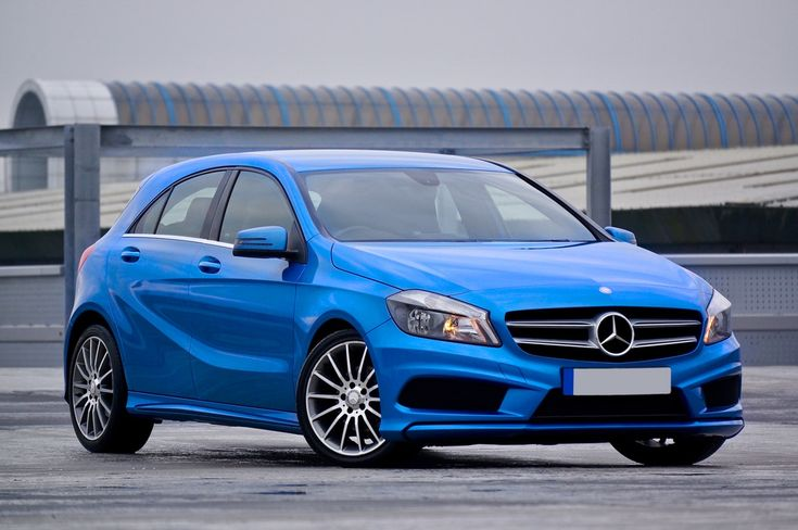 Photography of a Blue Mercedes-benz 5-door Hatchback  Free Stock Photo