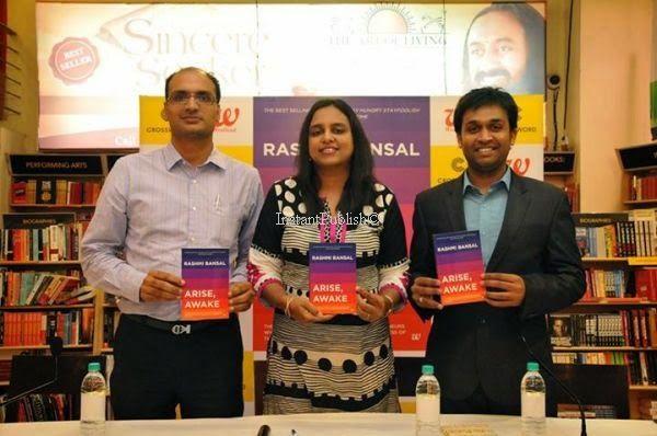 Our PP attended the book launch of Rashmi Bansal's 'Arise, Awake' at Crossword, Mumbai