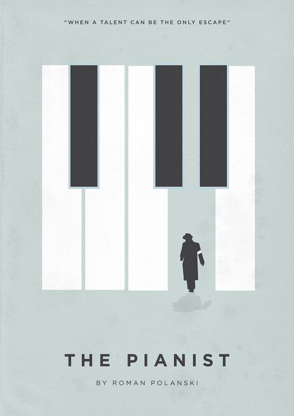 The Pianist (2002) ~ Minimalist Movie Poster by Eder Rengifo