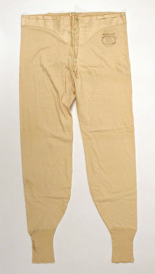 Underwear Date: 1890s Culture: American Medium: cotton Dimensions: Length (along side): 44 1/2 in. (113 cm)
