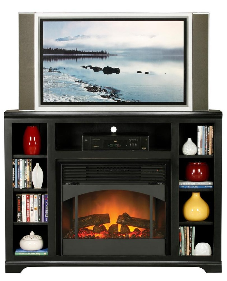 30 best console w  fireplace images on pinterest electric Media Stand Bookshelves with Cabinets