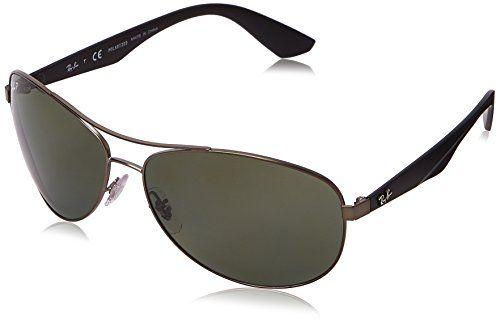 Ray-Ban RB 3526 63 029/9A Rb 3526 Aviator Polarized Sunglasses 63, Gunmetal Black