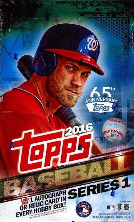 577befa1ffe 2016 TOPPS SERIES 1 BASEBALL HOBBY 12 BOX CASE BLOWOUT CARDS  BaseballCards
