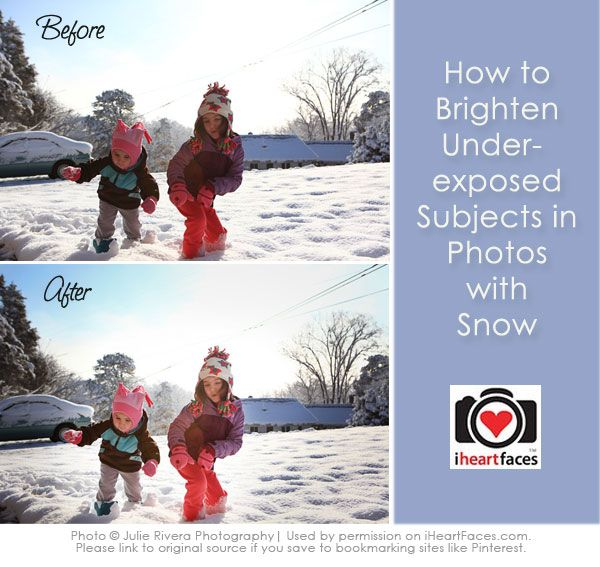 {Before & After} Brightening Underexposed Subjects in the Snow