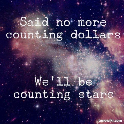 Feathers of Thought: No More Counting Dollars, We'll Be Counting Stars.